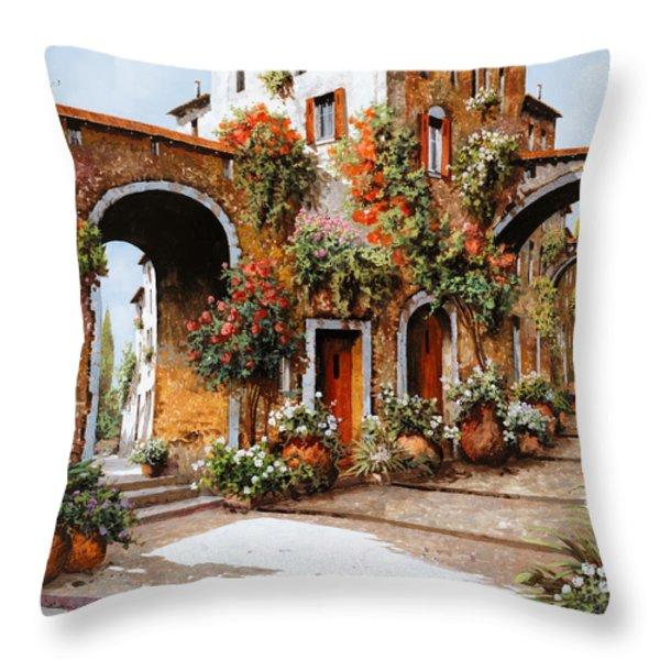 profumi di paese Throw Pillow by Guido Borelli