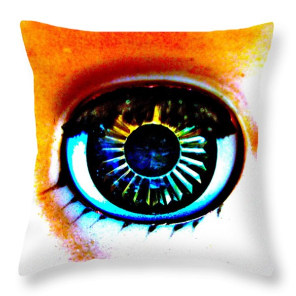 Provacative Throw Pillow by Gwyn Newcombe