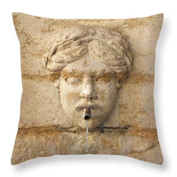 Provence Fountain 1 Carpentras Throw Pillow by Philippe Taka