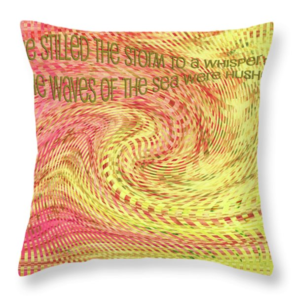 Psalm 107 Throw Pillow by Bonnie Bruno