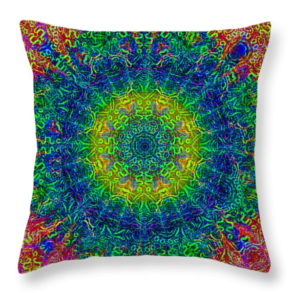 Psychedelicize Throw Pillow by Bill Cannon