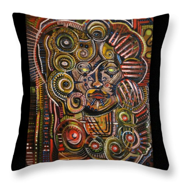 Psychotic Throw Pillow by Michael Kulick