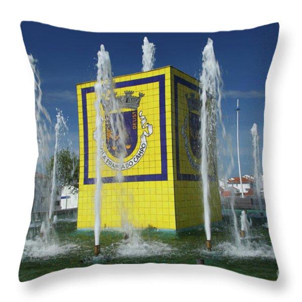 Public Fountain Throw Pillow by Gaspar Avila