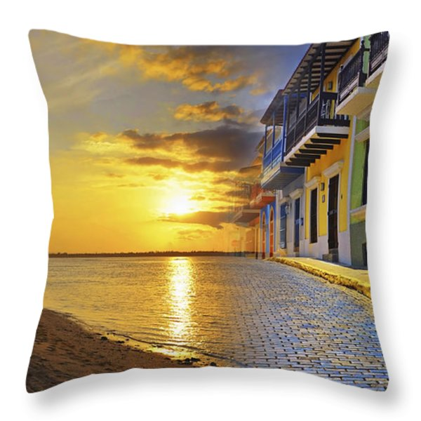 Puerto Rico Montage 1 Throw Pillow by Stephen Anderson