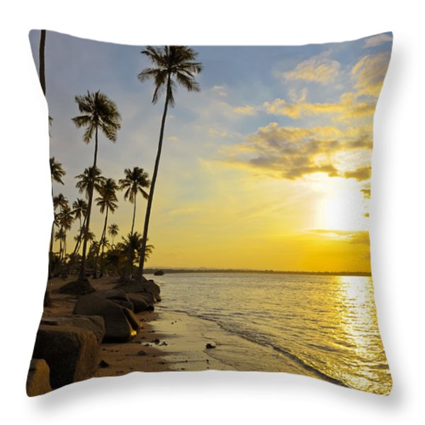 Puerto Rico Sunset Throw Pillow by Stephen Anderson