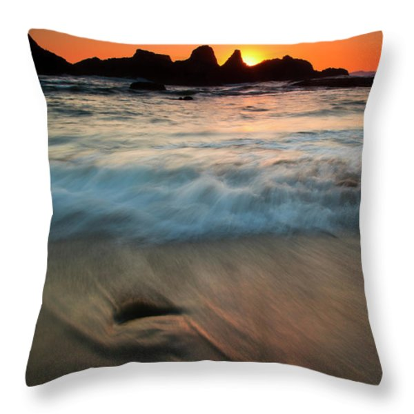 Pulled by the Tides Throw Pillow by Mike  Dawson