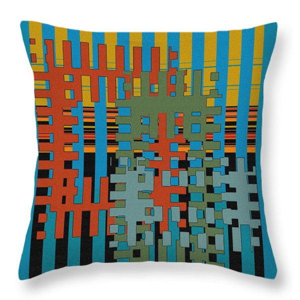 Puzzled Throw Pillow by Ben and Raisa Gertsberg