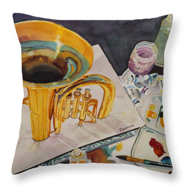 Pygmalion Joins The Band Throw Pillow by Jenny Armitage