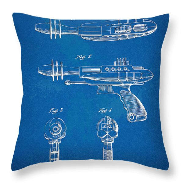 Pyrotomic Disintegrator Pistol Patent Throw Pillow by Nikki Marie Smith