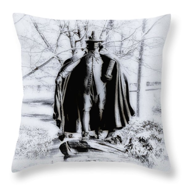Quaker Pilgrim Throw Pillow by Bill Cannon