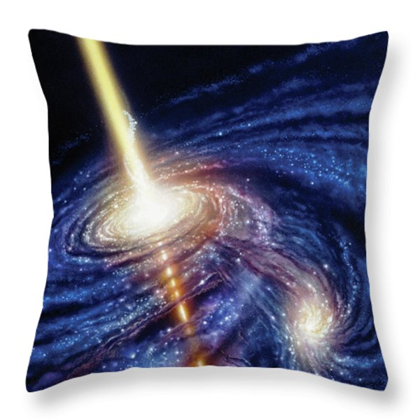 Quasar-b Throw Pillow by Don Dixon