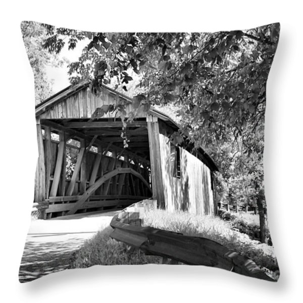 Quinlan Bridge Throw Pillow by Deborah Benoit