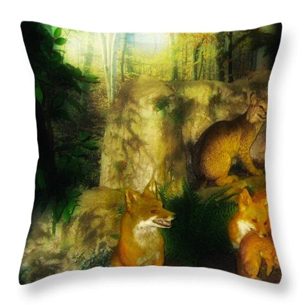 Rabbit Season Throw Pillow by Bill Cannon