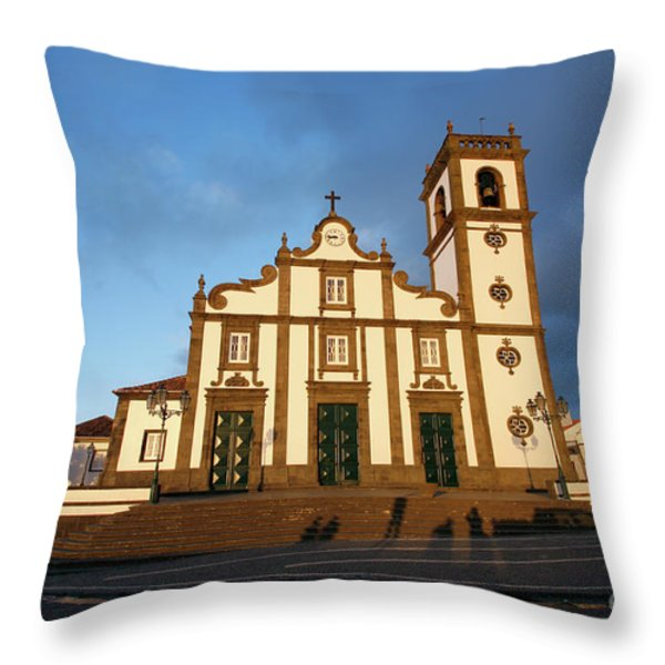 Rabo De Peixe Church Throw Pillow by Gaspar Avila