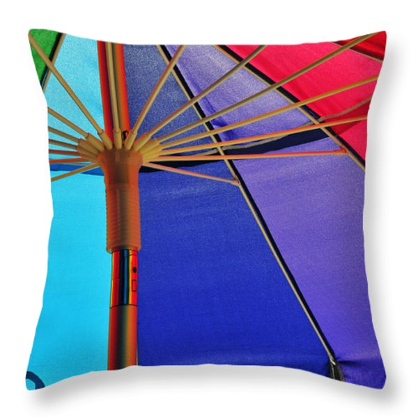 Rainbow Gathering Throw Pillow by Skip Hunt