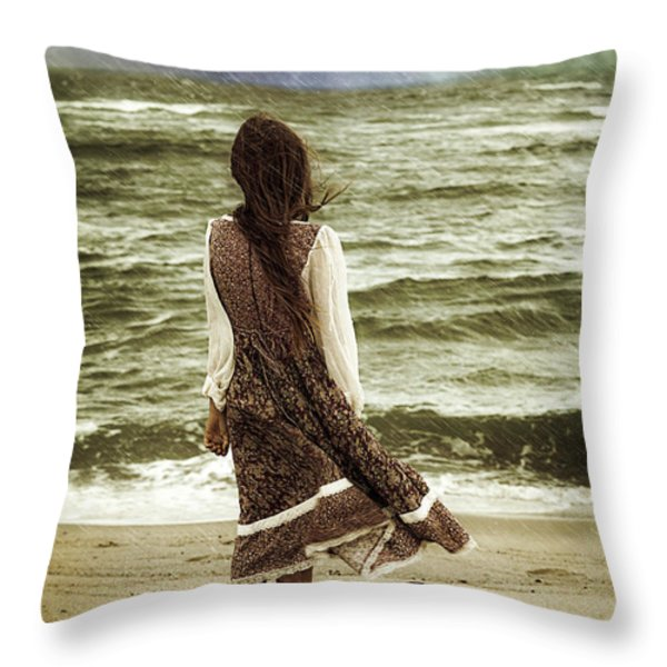 rainy day Throw Pillow by Joana Kruse