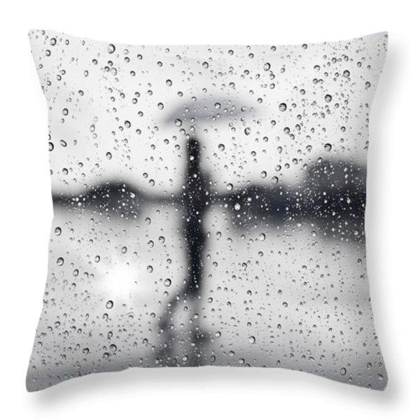 Rainy day Throw Pillow by Setsiri Silapasuwanchai