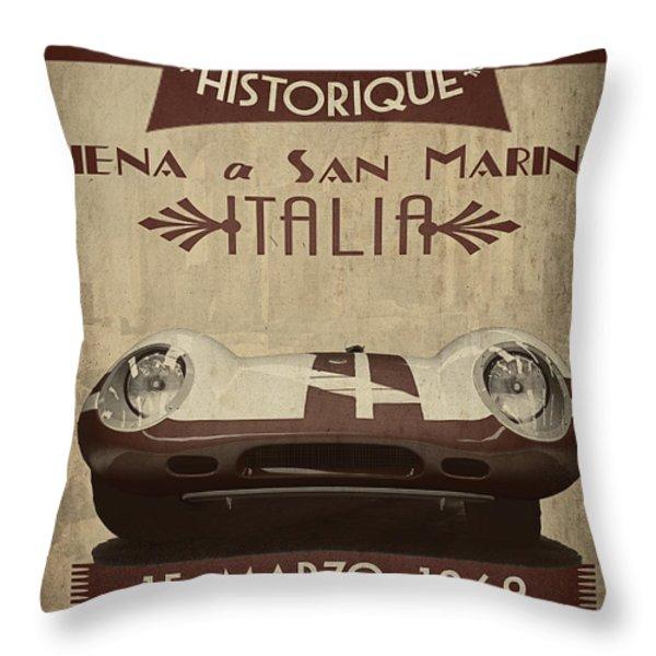 Rally Italia Throw Pillow by Cinema Photography