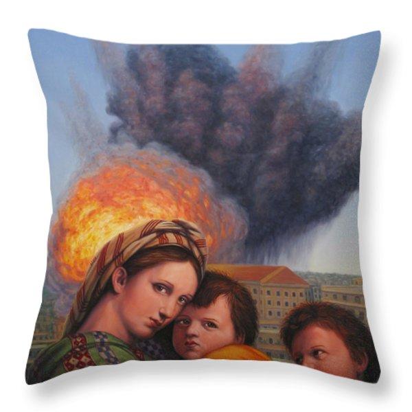 Raphael Moderne Throw Pillow by James W Johnson