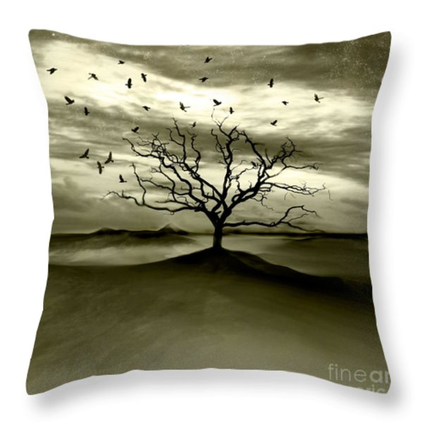 Raven Valley Throw Pillow by Photodream Art