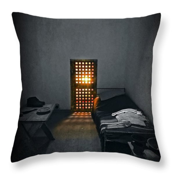 Rays Of Freedom Throw Pillow by Evelina Kremsdorf