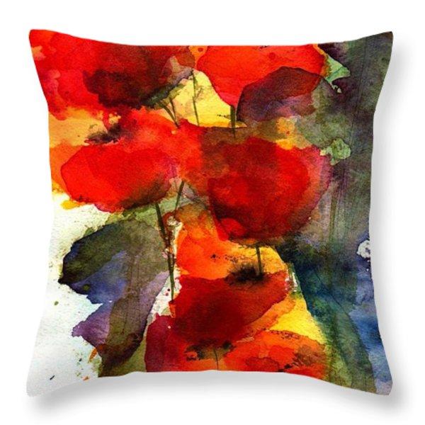 Reaching Throw Pillow by Anne Duke