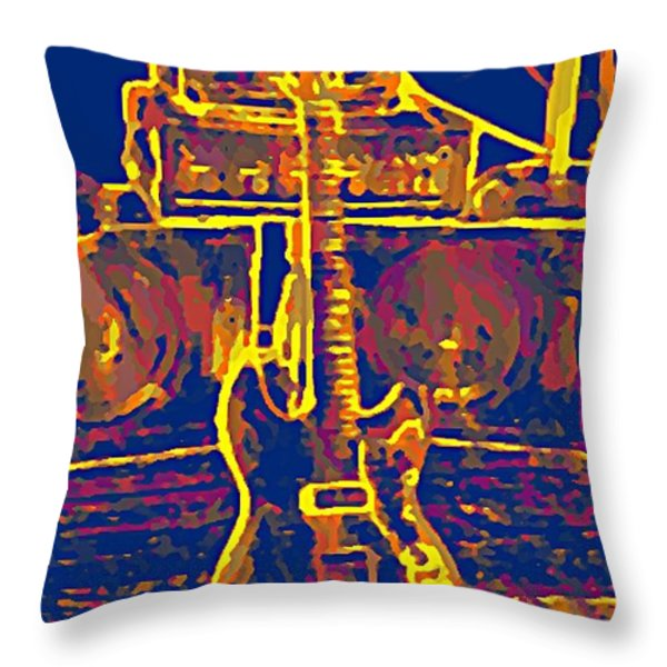 Ready To Rock Throw Pillow by Bill Cannon