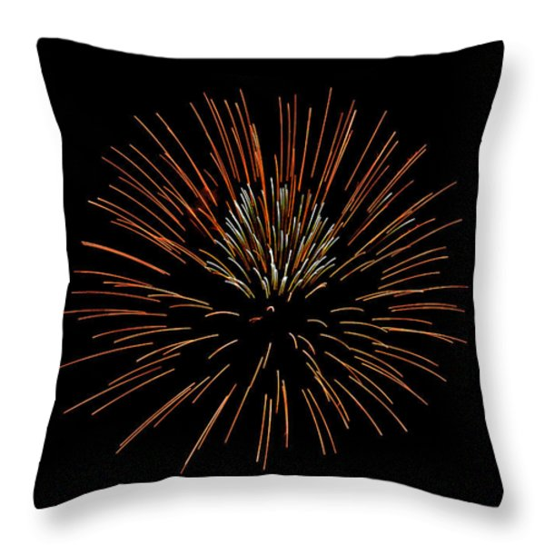 Red Ball Throw Pillow by Phill Doherty