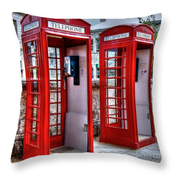Red Box Throw Pillow by Debbi Granruth