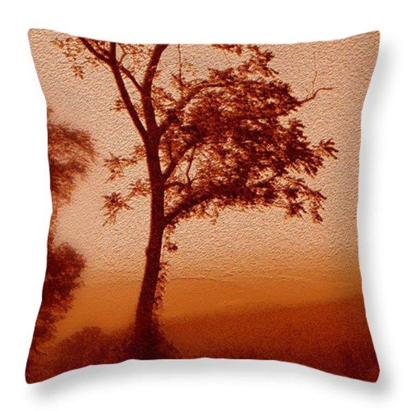 Red Dawn Throw Pillow by Linda Sannuti