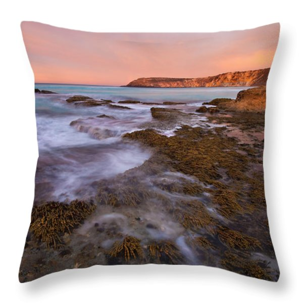 Red Dawning Throw Pillow by Mike  Dawson