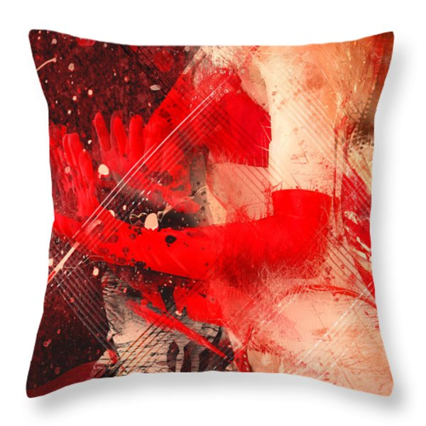 Red Gloves Throw Pillow by Svetlana Sewell