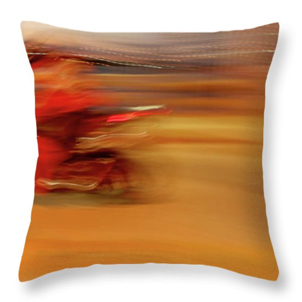 Red Hot Throw Pillow by Glennis Siverson