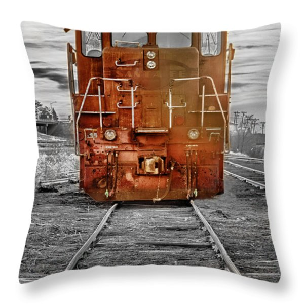 Red Locomotive Throw Pillow by James BO  Insogna