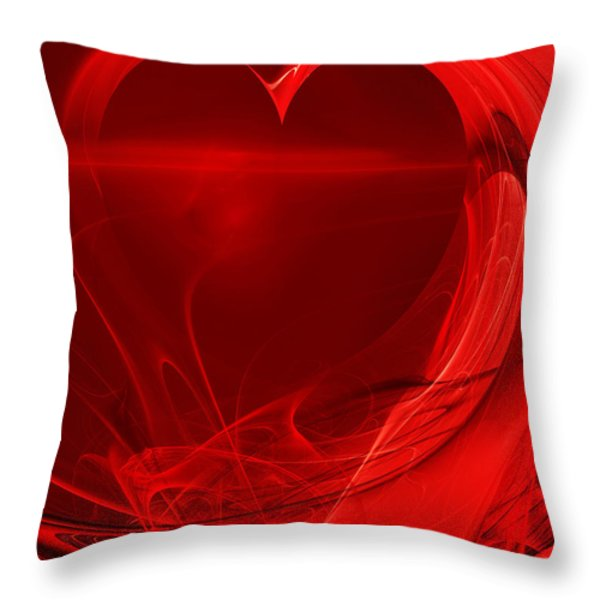 Red Love . A120423.279 Throw Pillow by Wingsdomain Art and Photography