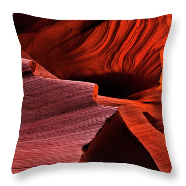 Red Rock Inferno Throw Pillow by Mike  Dawson