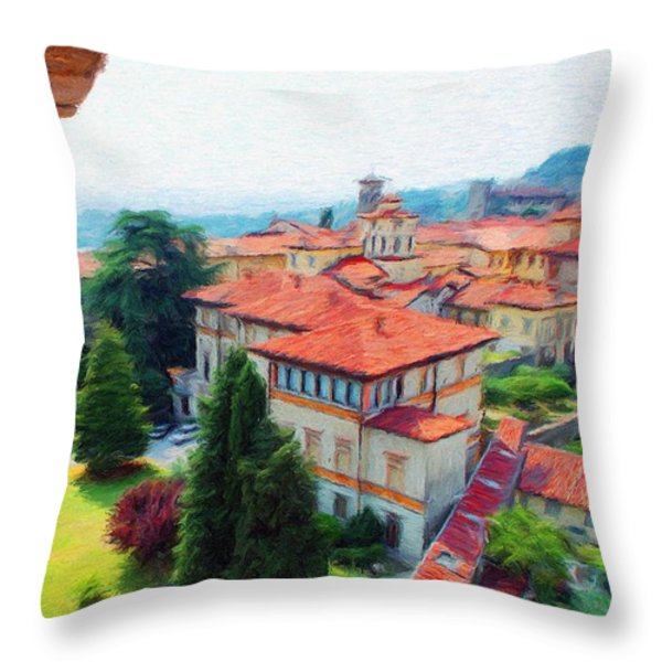 Red Roofs Throw Pillow by Jeff Kolker