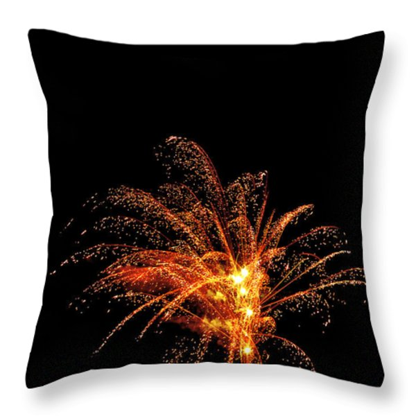 Red Splash Throw Pillow by Phill  Doherty