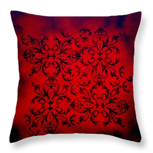 Red Velvet By Madart Throw Pillow by Megan Duncanson