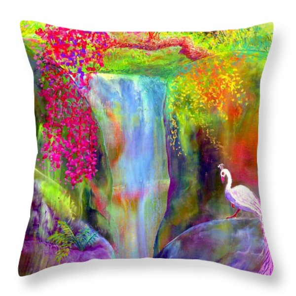 Redbud Falls Throw Pillow by Jane Small