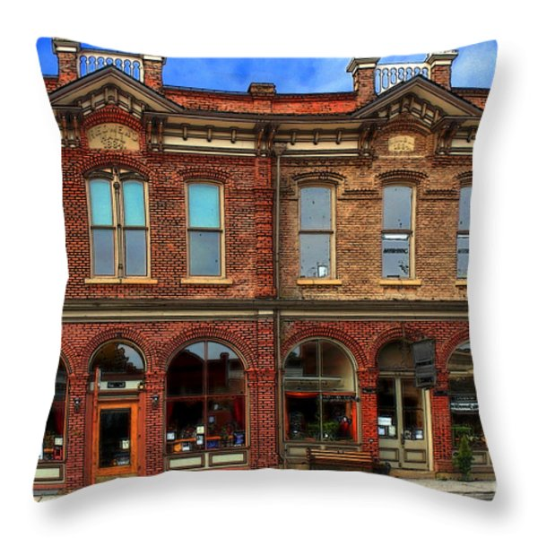 Redmens Hall - Jacksonville Oregon Throw Pillow by James Eddy