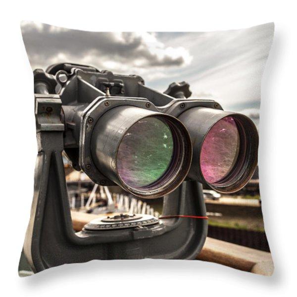 Reflected Power Throw Pillow by CJ Schmit