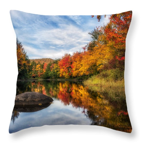 Reflections Of Fall Throw Pillow by Mark Papke