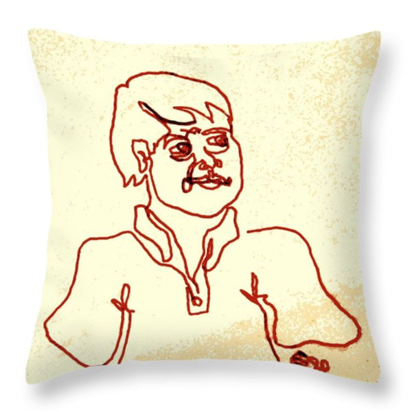 Regular Guy In Polo Shirt Throw Pillow by Sheri Parris