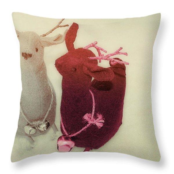 Reindeer Dash Throw Pillow by JAMART Photography