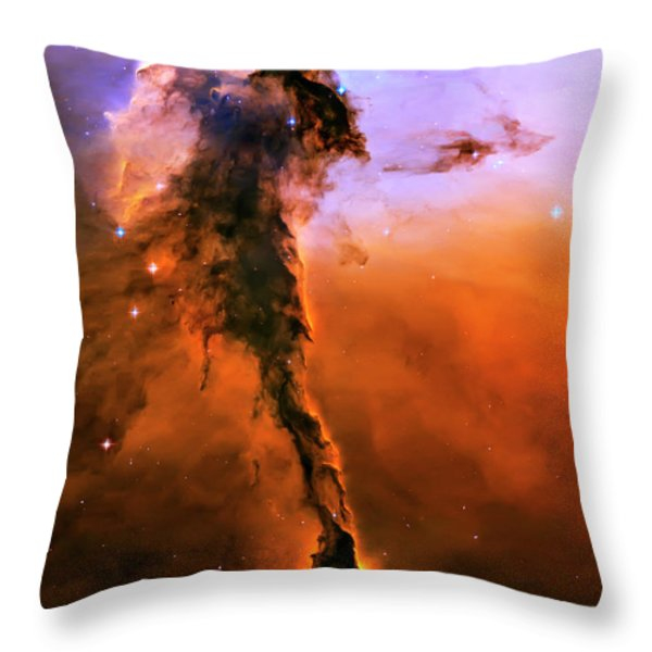 Release - Eagle Nebula 2 Throw Pillow by The  Vault - Jennifer Rondinelli Reilly