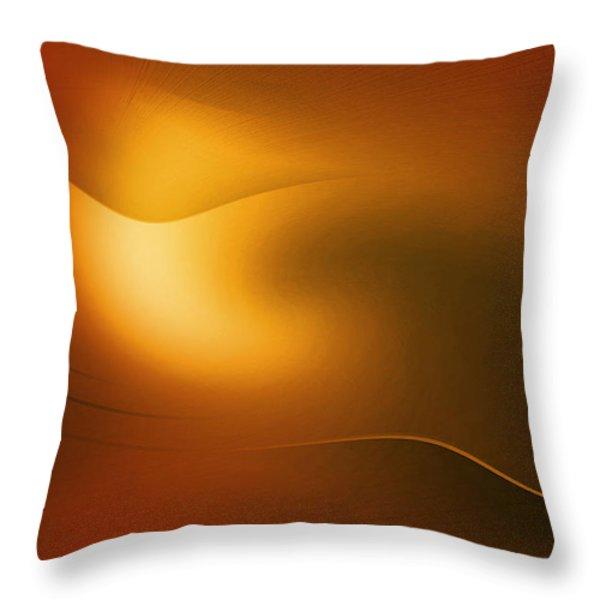 Relucent Gold Throw Pillow by John Krakora