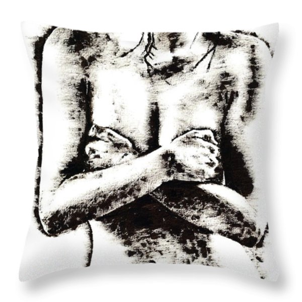 Reluctance Throw Pillow by Richard Young