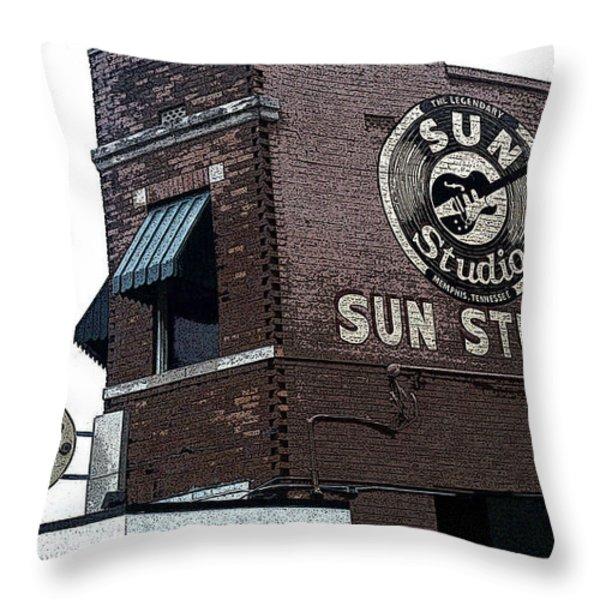 Retro Memphis Street Throw Pillow by Rebecca Brittain