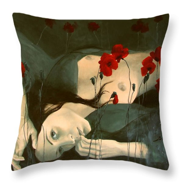 Reverie... Throw Pillow by Dorina  Costras